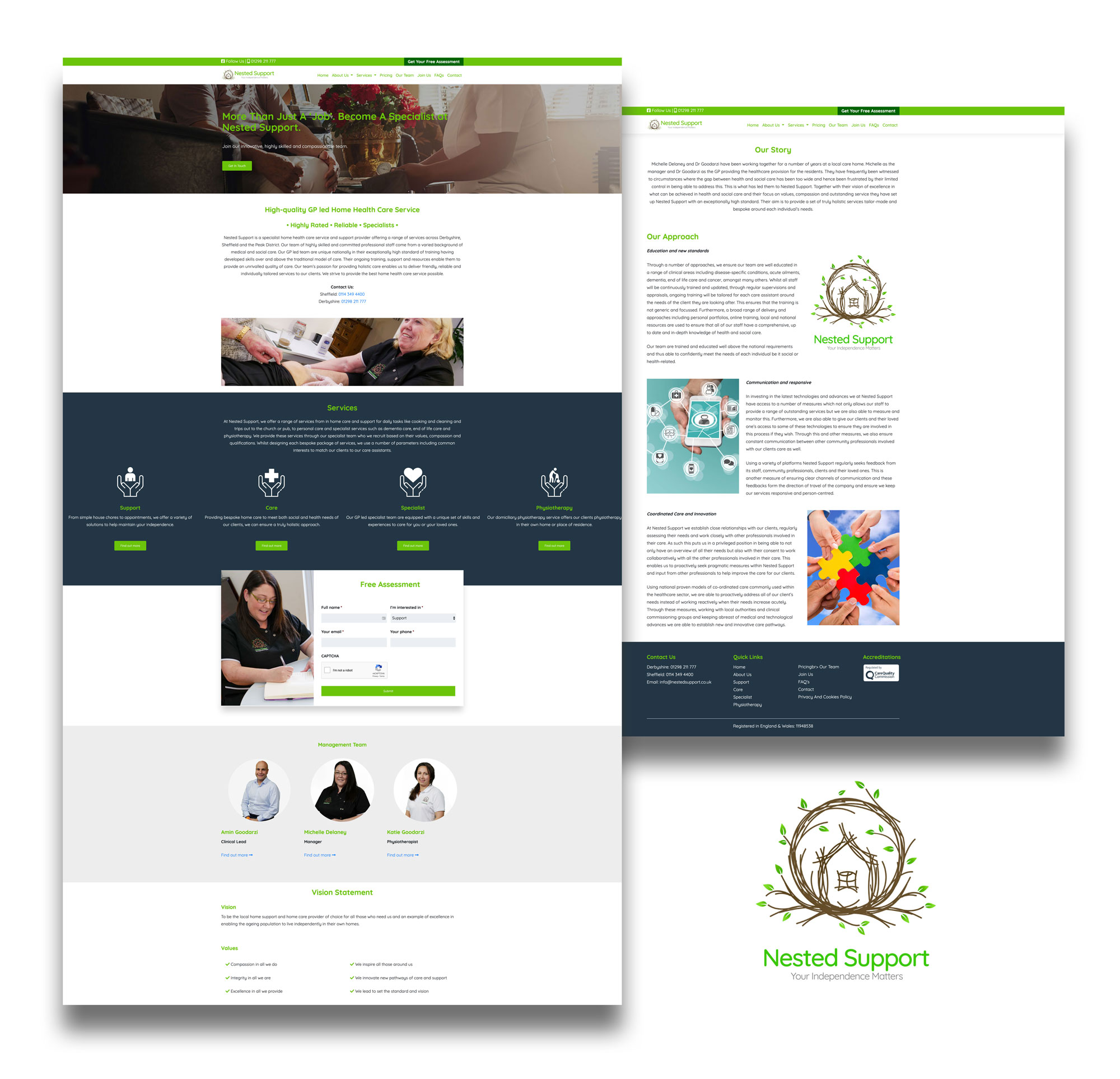 nested support website image